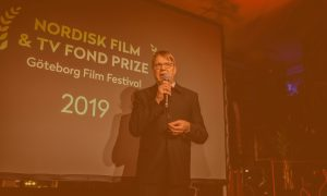 Petri Kemppinen is speaking at the prize ceremony for Nordisk Film & TV Fond Prize in Göteborg.